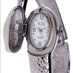 Kenneth Jay Lane Snake Bracelet Watch
